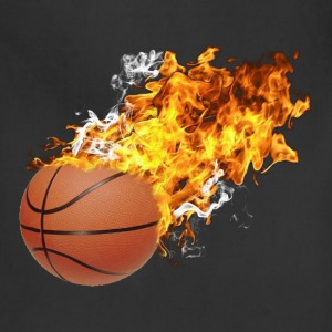 Flaming Basketball T-Shirts - Adjustable Apron