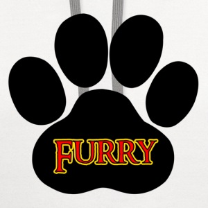 White Furry Furries T-Shirts - Contrast Hoodie