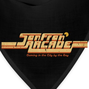 Brown SanFran Arcade (for dark shirts) T-Shirts - Bandana