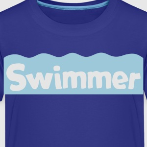 swimmer on the waves Kids' Shirts - Toddler Premium T-Shirt