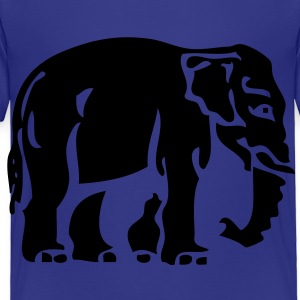 Elephant Crossing Sign - Toddler Premium T-Shirt