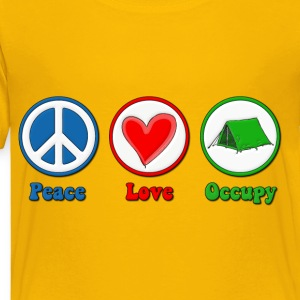 Peace Love Occupy Protest Kids' Shirts - Toddler Premium T-Shirt