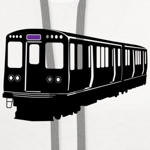 Purple Line Chicago L Train T-shirt - Contrast Hoodie