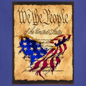 We The People American Eagle Flag Short Sleeve Heavy Weight  T-Shirt w/design on Front - Adjustable Apron