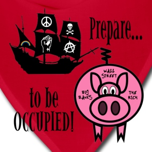 Prepare to Be Occupied Pirate Pig T-Shirts - Bandana