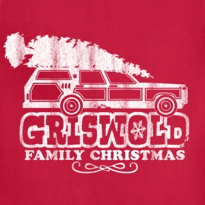 GRISWOLD FAMILY VACATION MOVIE vintage retro CHRISTMAS T-SHIRT RED - Adjustable Apron