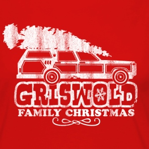 GRISWOLD FAMILY VACATION MOVIE vintage retro CHRISTMAS T-SHIRT RED - Women's Premium Long Sleeve T-Shirt