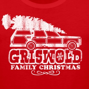 GRISWOLD FAMILY VACATION MOVIE vintage retro CHRISTMAS T-SHIRT RED - Men's Premium Tank