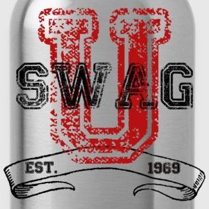 Swag University - Unisex Graphic Design College Font Graffiti Text Style  - Water Bottle