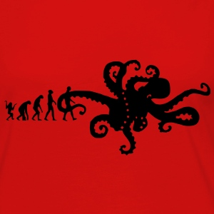 Evolution Of The Octopus Joke - Funny Unisex Graphic Design Print T-Shirts - Women's Premium Long Sleeve T-Shirt