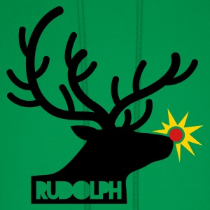 rudolph with light on is nose REINDEER T-Shirts - Men's Hoodie