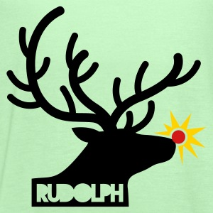 rudolph with light on is nose REINDEER T-Shirts - Women's Flowy Tank Top by Bella