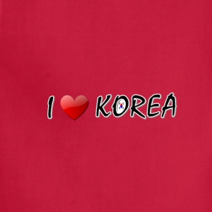 I LOVE KOREA txt s.korea flag art Toddler T-Shirt - Adjustable Apron