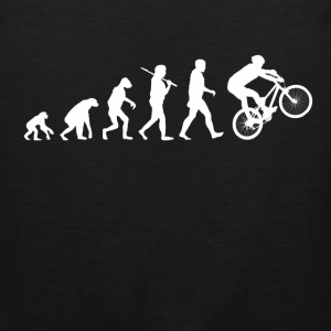 Cycling Evolution Funny Parody - Men's Premium Tank