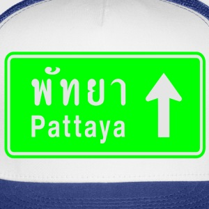 Pattaya, Thailand / Highway Road Traffic Sign - Trucker Cap