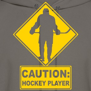 CAUTION: Hockey Player T-Shirts - Men's Hoodie