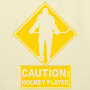 CAUTION: Hockey Player T-Shirts - Eco-Friendly Cotton Tote