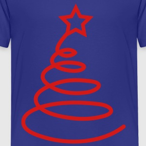 Simple ribbon Christmas tree FUNKY Kids' Shirts - Toddler Premium T-Shirt