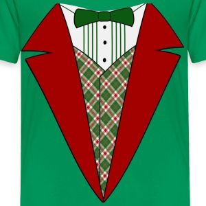 Funny Christmas Tuxedo, Red and Green Tux Kid's T-Shirt - Toddler Premium T-Shirt