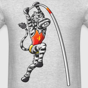 Olympic Pole Vault Zebra T-Shirts - Men's T-Shirt