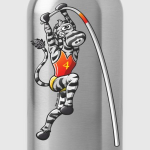 Olympic Pole Vault Zebra T-Shirts - Water Bottle
