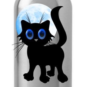 Black Halloween Kitten - Water Bottle