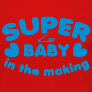SUPER baby in the making!  T-Shirts - Women's Premium Long Sleeve T-Shirt