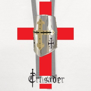 Crusader Red on Light Heavyweight T - Contrast Hoodie