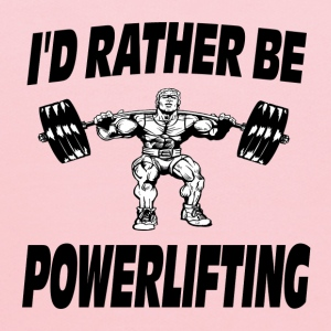 I'd Rather Be Powerlifting Weightlifting T-Shirts - Kids' Hoodie