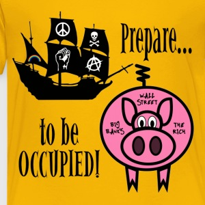 Prepare to Be Occupied Pirate Pig Kids' Shirts - Toddler Premium T-Shirt