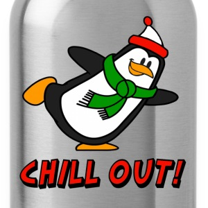 Chill Out Penguin Chilly Willy T-Shirts - Water Bottle