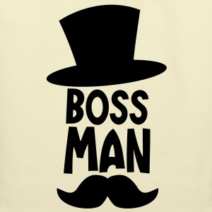 BOSS MAN moustache T-Shirts - Eco-Friendly Cotton Tote