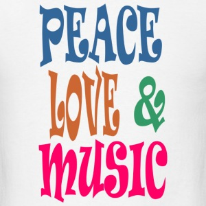Peace Love n Music - Men's T-Shirt