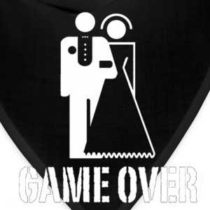 Game Over Marriage Design T-Shirts - Bandana