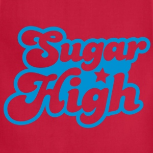 sugar high blue in a funky font T-Shirts - Adjustable Apron