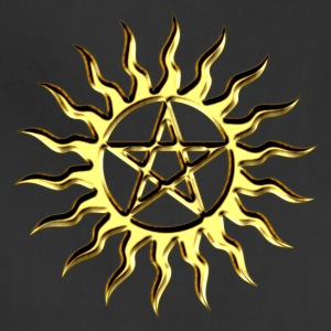 Pentagramme - Pentagram - Blazing Star- ancient magic symbol, DD, protective amulet, energy symbol T-Shirts - Adjustable Apron