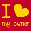 I LOVE MY OWNER perfect for that pet dog or cat shirt T-Shirts - Men's Premium Tank