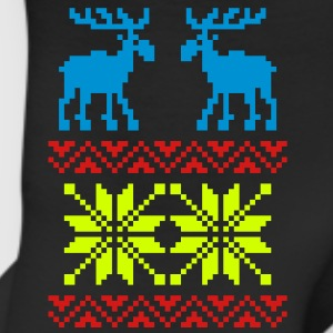 Moose Pattern Christmas Sweater - Leggings