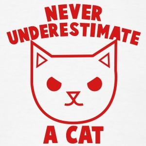 never underestimate a cat angry kitty pussy cat Tank Tops - Men's T-Shirt