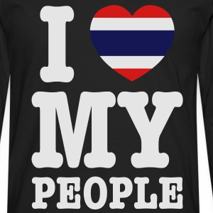 I Heart (Love) My Thai People - Men's Premium Long Sleeve T-Shirt