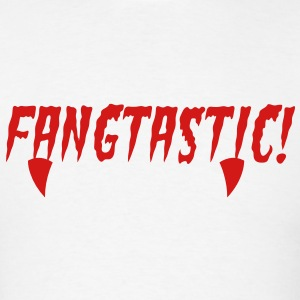 fangtastic type word with fangs in red blood! T-Shirts - Men's T-Shirt
