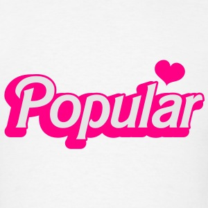 POPULAR! with cute heart funky sexy font T-Shirts - Men's T-Shirt