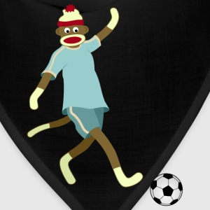 Sock Monkey Soccer Player - Bandana