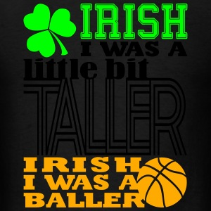 St. Patrick's Madness Irish Baller (Tri-color) - Men's T-Shirt