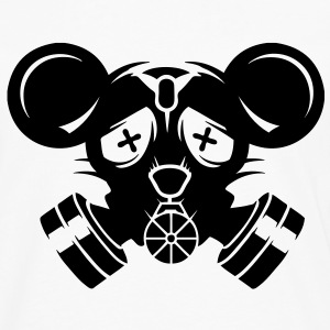 A gas mask with big mouse ears T-Shirts - Men's Premium Long Sleeve T-Shirt