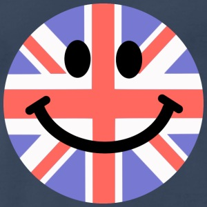 British Flag Smiley Face Tank Tops - Men's Premium T-Shirt