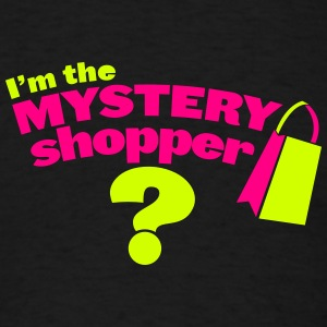 I'm the mystery shopper with shopping bag Men - Men's T-Shirt