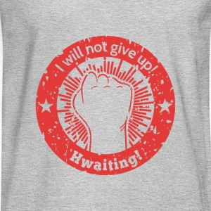 hwaiting is korean for fighting (red) Tank Tops - Men's Long Sleeve T-Shirt
