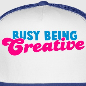 BUSY being CREATIVE! Tank Tops - Trucker Cap