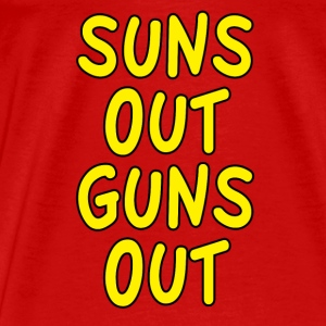 Suns Out Guns Out Design Tank Tops - Men's Premium T-Shirt